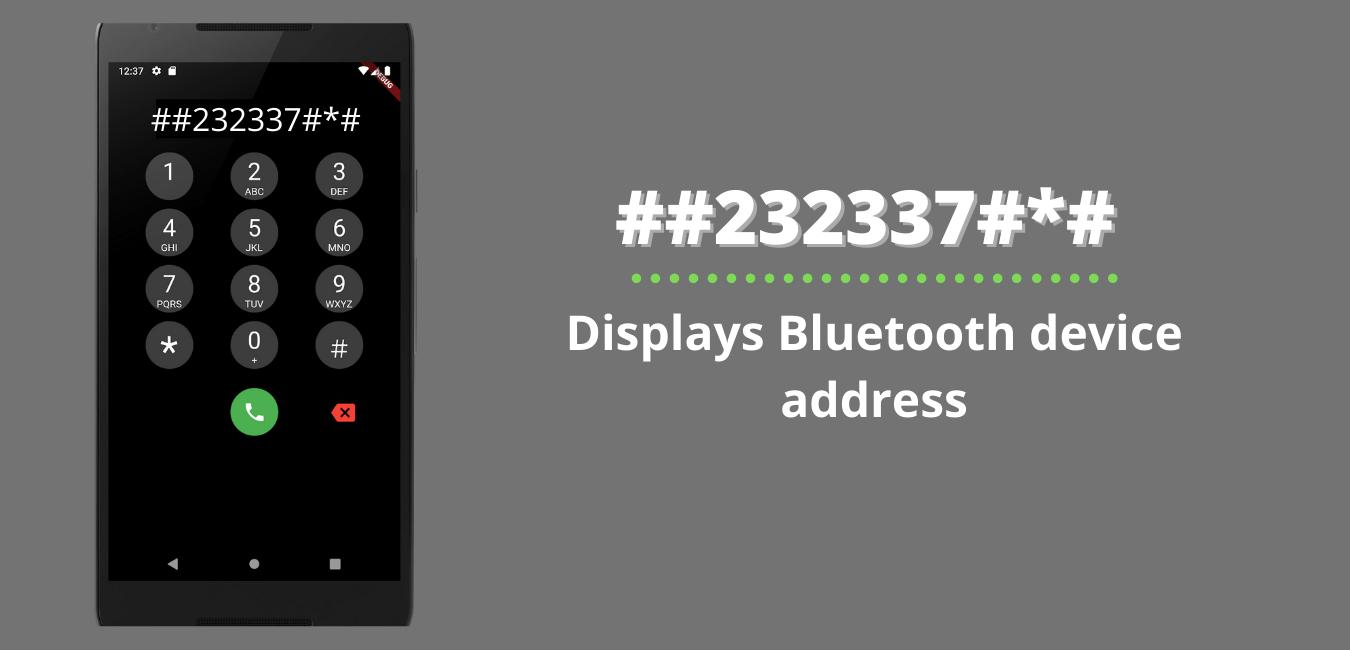 Displays Bluetooth device address